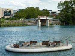 Support d'une pile du pont Raymond-Barre