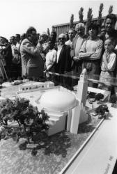 [Pose de la première pierre de la Grande mosquée de Lyon]
