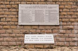 Nécropole nationale de La Doua : le mur des fusillés