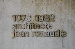 [Plaque : 1976-1982 architecte Jean Renaudie]