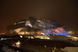 Vue du Musée depuis le pont Raymond Barre