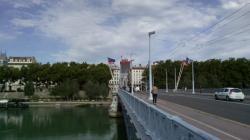 [Les quais du Rhône et le pont Lafayette]