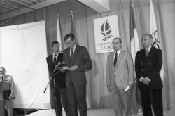 [Inauguration du siège du Comité d'organisation des jeux Olympiques d'Albertville]