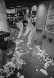 [Grève des services de nettoiement à la gare de la Part-Dieu]