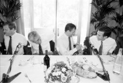 [Elections européennes de 1989 : François Léotard en visite à Lyon]
