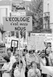 [Manifestation contre la prolifération du lynx dans l'Ain]