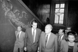 [V. Giscard d'Estaing et Jacques Chirac à Lyon]
