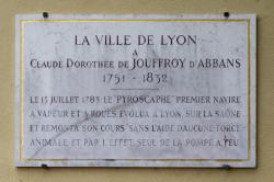 Plaque commémorative à Jouffroy d'Abbans (1751-1832)