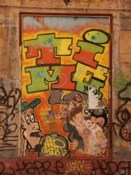 Rue Lemot : tag sur l'Impromptu kafé