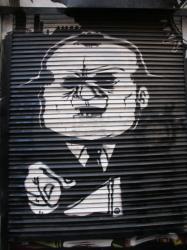 Tag noir et blanc, rue Diderot