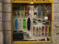 Rue Terme : Les rollers