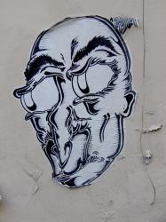 Papier collé, rue Général Anthelme de Sève