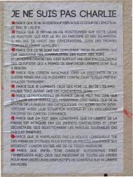 """""""Je ne suis pas Charlie"""", rue Diderot"""