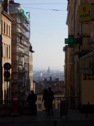 Vue sur Lyon, rue Claude Pouteau