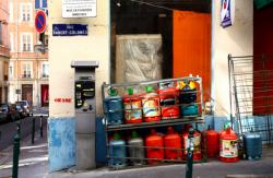 Stocks colorés de rue