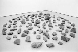 [Musée d'art moderne de Saint-Etienne : exposition des oeuvres de Richard Long de la collection Panza]