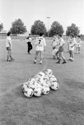 [Football : entraînement de l'Olympique lyonnais]