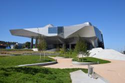 Le Musée des Confluences depuis le confluent