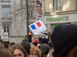 """""""Not afraid"""", 11 janvier 2015, rue du Pont, 7e arrondissement"""