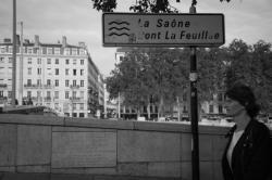 La Saône. Pont La Feuillée