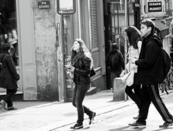 Touristes, sur les Pentes de la Croix Rousse