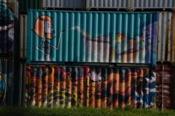 Tags sur containers, Port Edouard Herriot