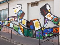 Street art, rue Songieu, Villeurbanne