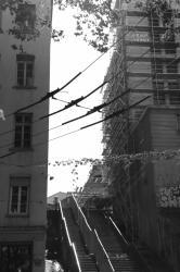 Entrelacs de rues et de cables