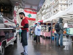 Honneur au Liban, marché quai Victor Augagneur