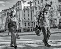 Vieux couple, avenue général Brosset