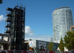 Démolition du bâtiment B 10 côté Est