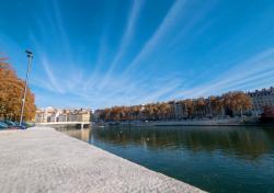 Saône, ciel, et Croix-Rousse