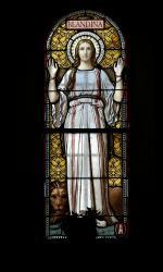 La Basilique Saint-Martin d'Ainay, chapelle Sainte Blandine, vitrail
