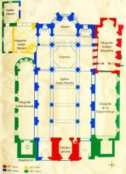 La Basilique Saint-Martin d'Ainay, plan