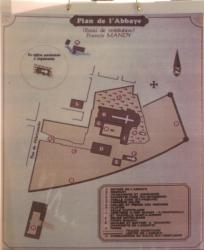 Abbatiale de l'Assomption, Belleville, plan de l'ancienne abbaye