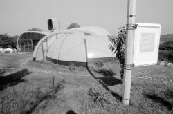 [Maison bulle bioclimatique à Crozes-Hermitage (Drôme)]