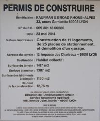 Projet de construction de logements, impasse des Chartreux