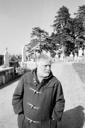[Jean-Guy Mourguet au cimetière de Brindas]