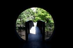 """[""""Vue de la cheminée"""", à l'intérieur, parc du Centre, Villeurbanne]"""