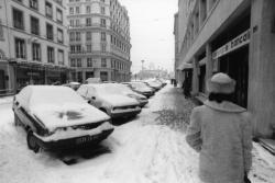 [La rue Childebert sous la neige]