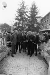 """[Inauguration de l'exposition """"Cité internationale de Lyon""""]"""