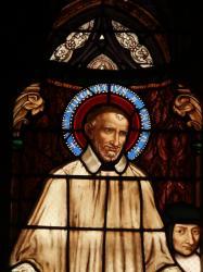 [Eglise Saint-Paul, vitrail représentant Saint Vincent]