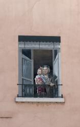 [Mur peint, rue Tavernier, détail]