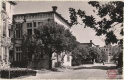 Lyon (Rhône) : l'Hôpital Edouard Herriot ; Pavillons et jardins.