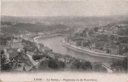Lyon : La Saône  ; Panorama vu de Fourvière