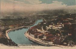 Lyon : Panorama sur la Saône  ; Vaise et Serin ; Vue prise de la Terrasse du Passage Gay.