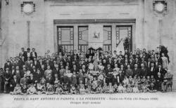 Festa di Sant Antonio di Padova, à la Poudrette - Vaulx-en-Velin (15  Giugno 1930). Gruppo degli nomini