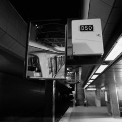 [Métro de l'agglomération lyonnaise. Inauguration de la ligne D (station Bellecour)]