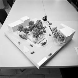 [Maquette pour le projet d'aménagement de la place de Trion (Jacques Coulon, paysagiste)]