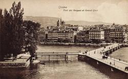 Genève - Pont des Bergues et Grand Quai.